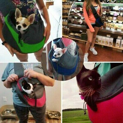 pet puppy dog mesh sling carry pack
