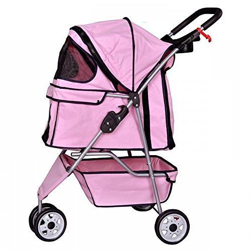 BestPet Cat Dog Wheels Travel Folding Carrier