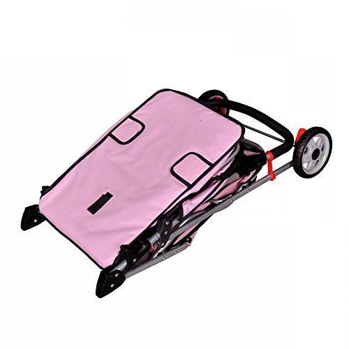 BestPet Pet Cat Dog Wheels Stroller Travel Carrier