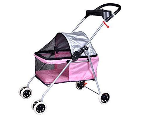 pink posh pet stroller dogs