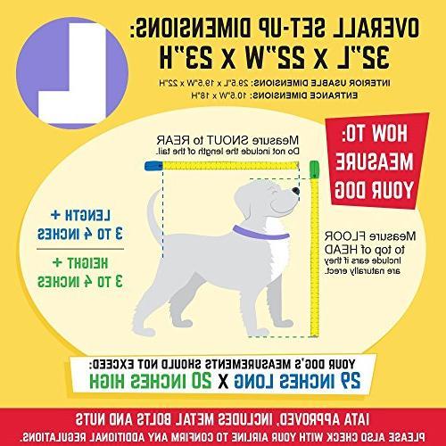 SportPet Designs Plastic Kennels Rolling Travel Dog Kennel