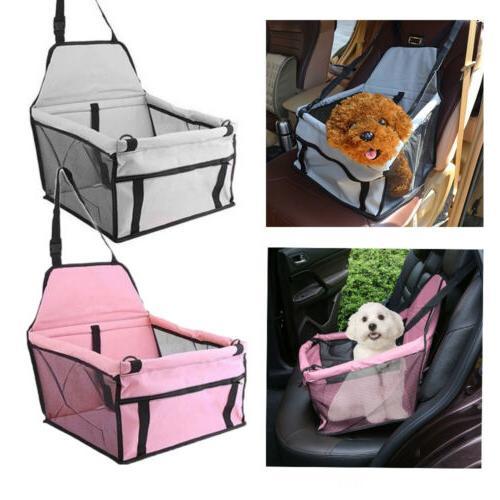 Portable Dog Car Seat Belt Booster Travel Carrier