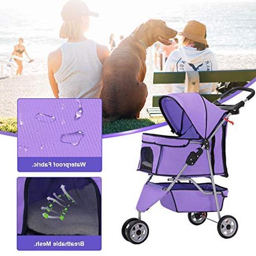 BestPet Stroller Cat Dog 3 Stroller