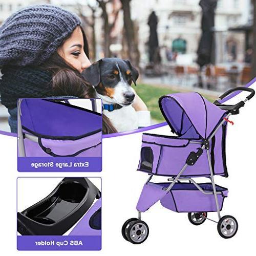 BestPet Dog Wheels Stroller Travel Carrier
