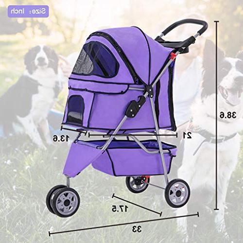 BestPet Dog 3 Stroller Travel Carrier