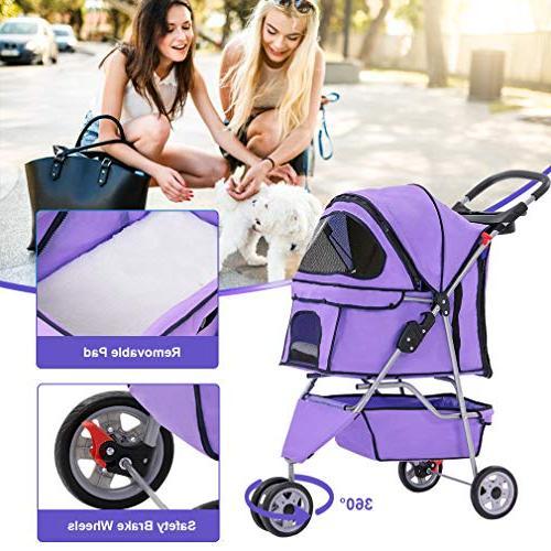 BestPet Dog Cage 3 Stroller Travel
