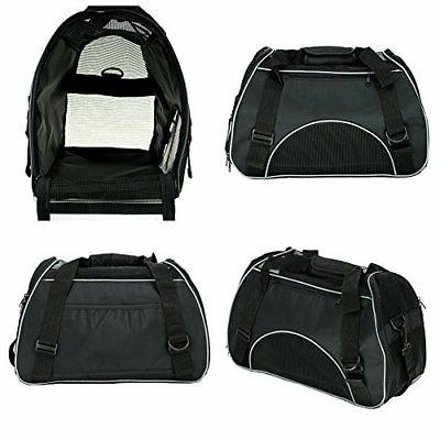 Soft Side Carrier Travel Bag Small Cats Airline Approved Seat Bl