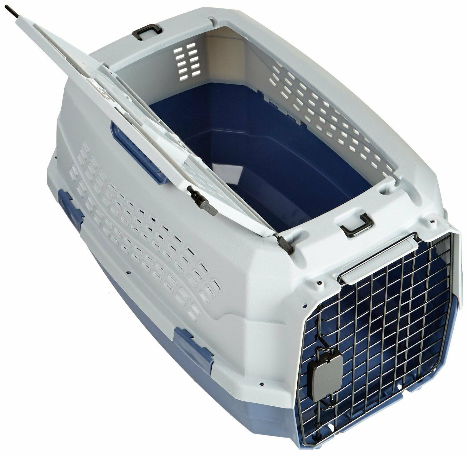 Two Pet Kennel Crate Dog Cat Carrier Box Tray