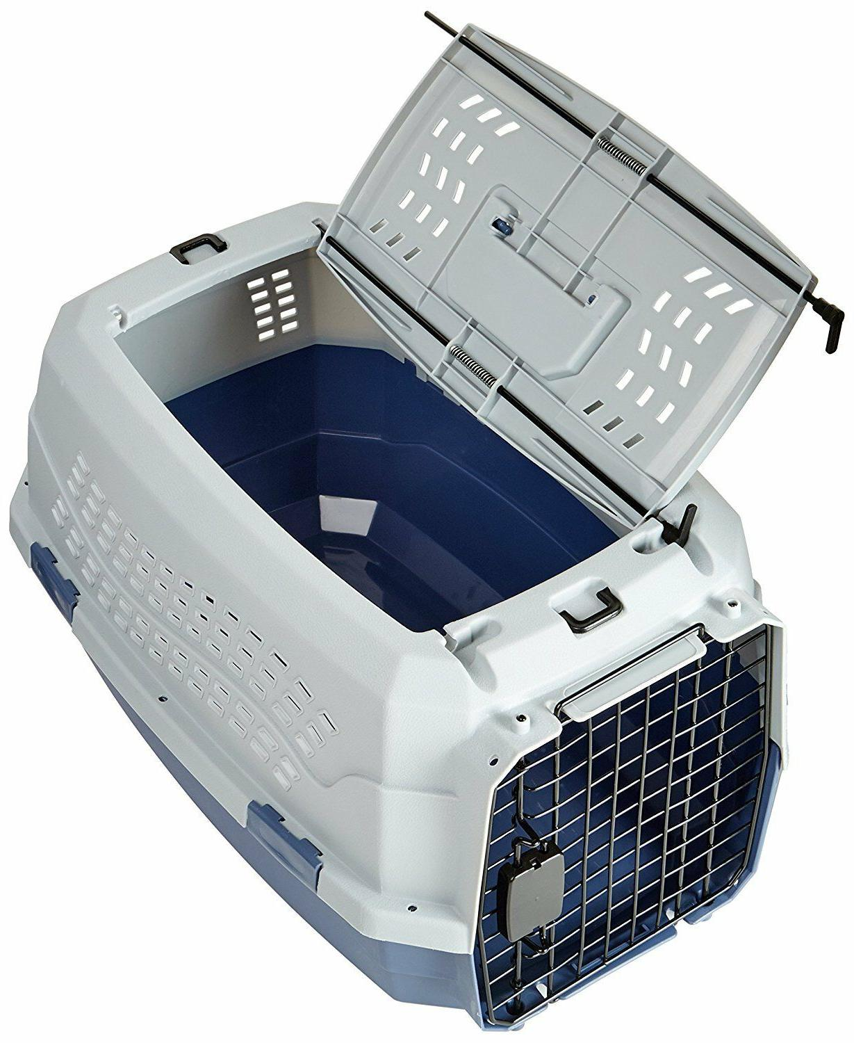 Two Pet Kennel Travel Dog Cat Carrier