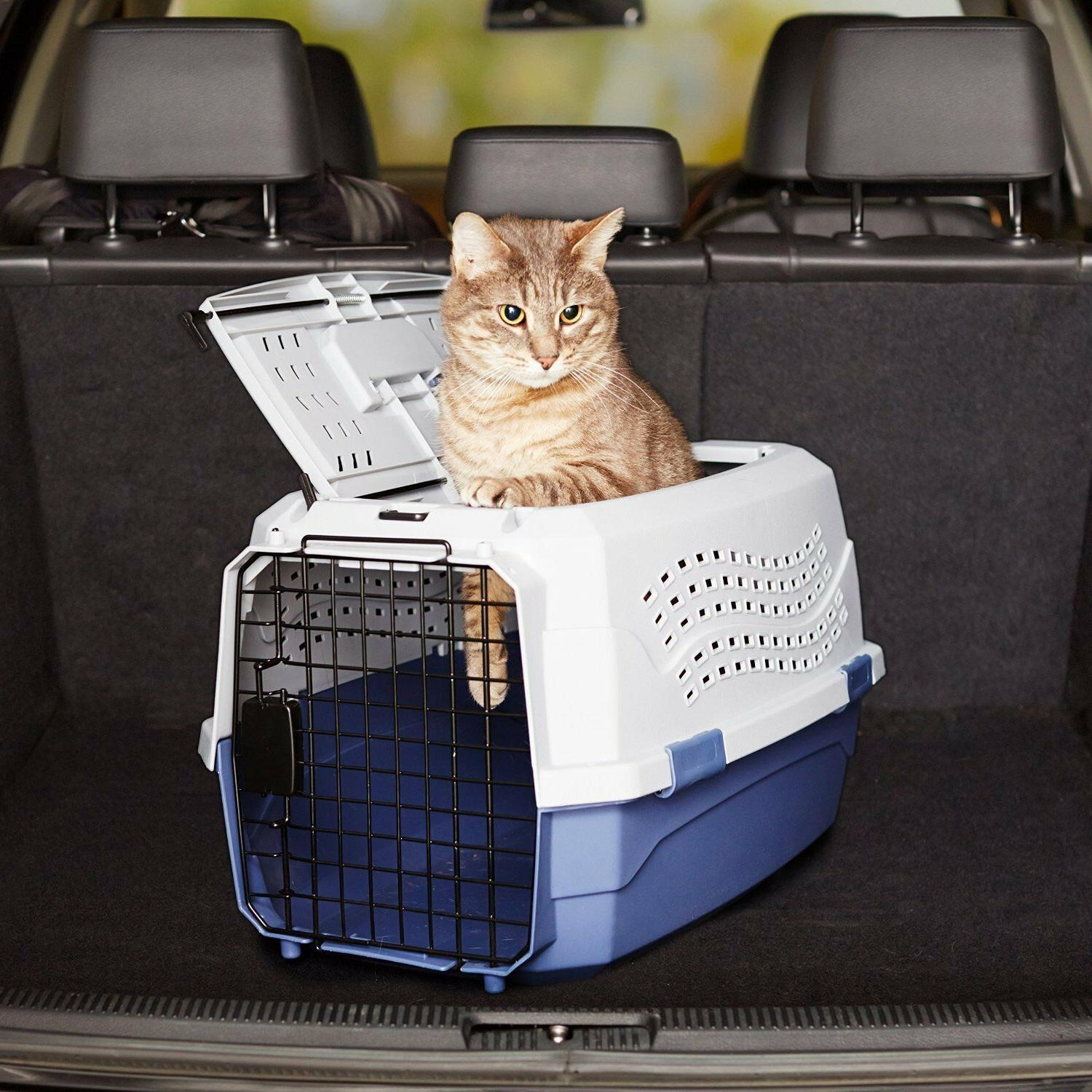 Two Door Pet Kennel Dog Pet Cage Carrier Tray