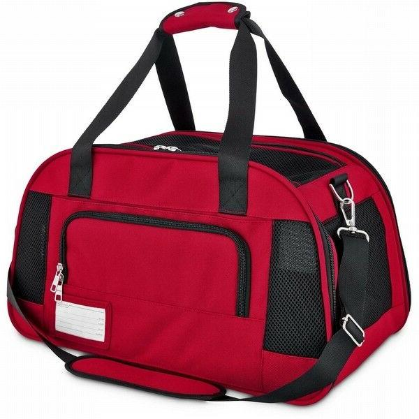 Good2Go Ultimate Pet Carrier in Size Large Colors Red & Blac