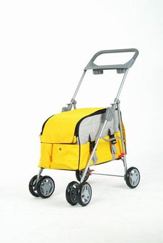 Yellow Pet Stroller/Carrier/House