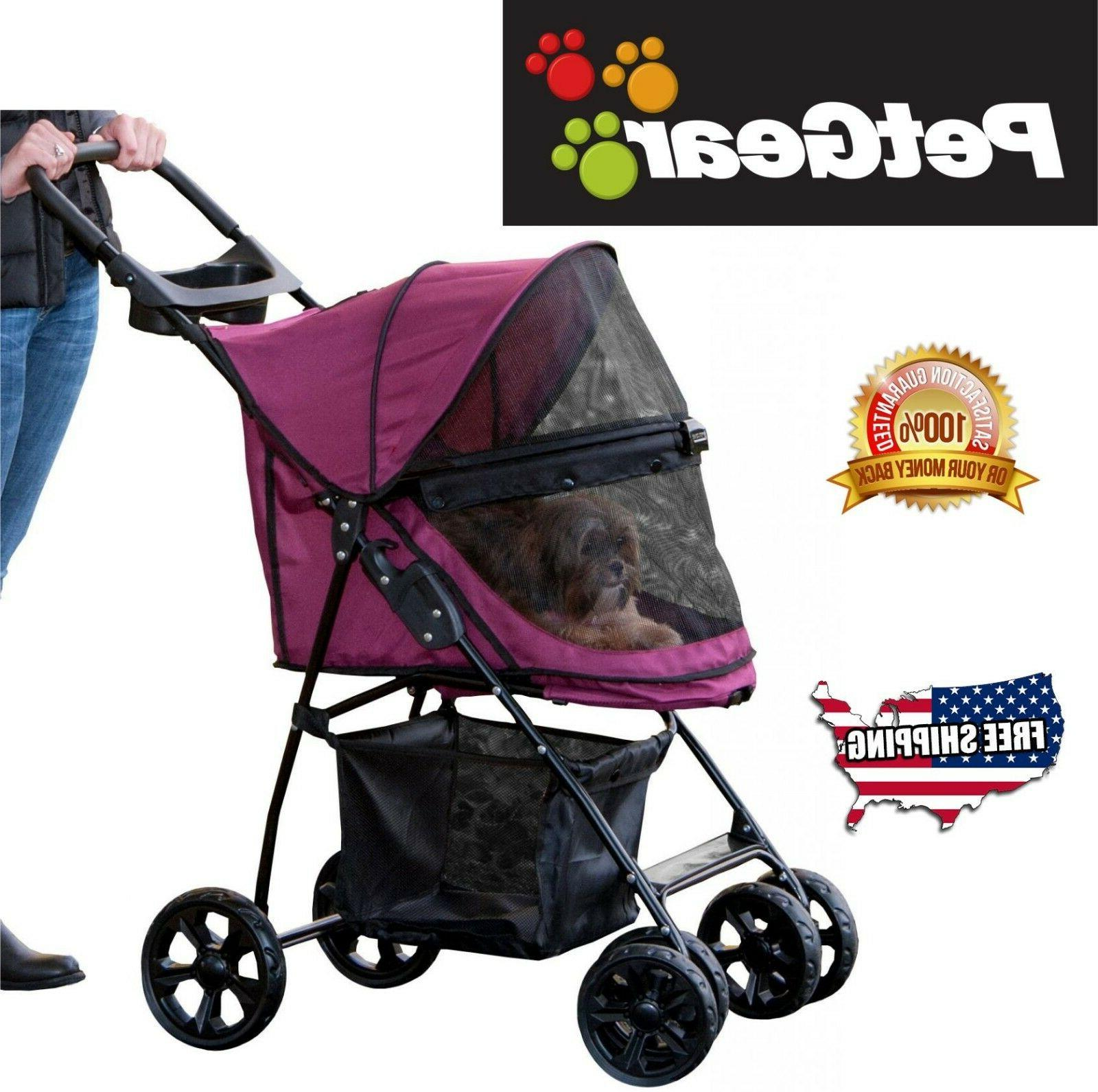 Pet No-Zip Trails Pet Stroller for Easy with Liner, + Cup Holder