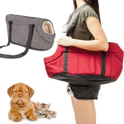 Light Pet Carrier Tote Cat Dog Comfort Travel Bag Gray /Rose