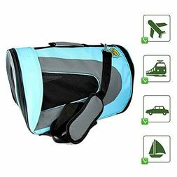 Luxury Soft-Sided Cat Carrier - Pet Travel Portable Kennel