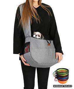 RETRO PUG Travel Mate Pet Carrier Sling Bag - Purse - Front