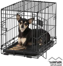 Metal Dog Cage Puppy Pet Crate Carrier Small Medium Large S