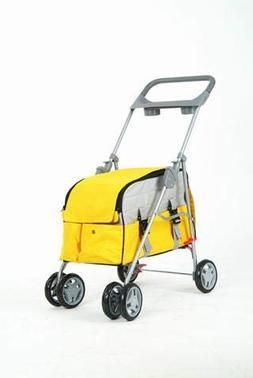 BestPet Pink Leopard Pet Stroller/Carrier/Car Seat Travel Fo