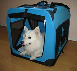 "New 20"" Portable Travel Soft-Sided Pet Crate Carrier Kennel"