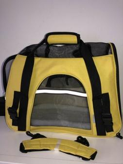 NEW Paws & Pals Airline Approved Pet Carrier - Yellow , refl
