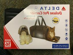 NEW Sherpa Travel Deluxe Delta Airline Pet Carrier Delta Bla