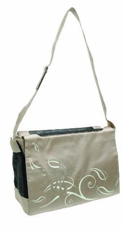 Dogit Style Nylon Messenger Bag, Butterfly Beige