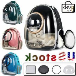 Outdoor Cat Dog Breathable Pet Carrier Bag Travel Transparen