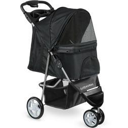 = Paws And Pals 3 Wheel Jogging Dog Cat Rabbit Pet Stroller