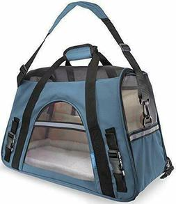 Airline Approved Pet Carriers w/Fleece Bed for Dog & Cat
