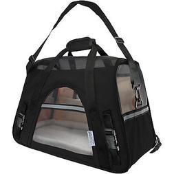 paws and pals black pet carrier