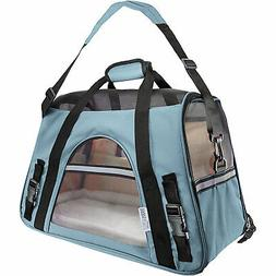 paws and pals blue pet carrier
