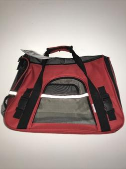 Paws & Pals Small Pet Carrier Red/Black 0840345101204 Missin
