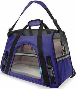 Paws Pals Airline Approved Pet Carriers w/Fleece Bed for Dog