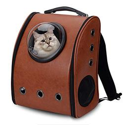 ALEKO PC10CF Pet Backpack Astronaut Capsule Bubble Window Lu