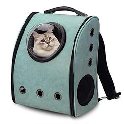 ALEKO PC10GR Pet Backpack Astronaut Capsule Bubble Window Lu