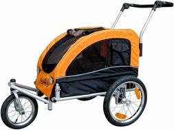 Booyah Medium Pet Bicycle Trailer and Dog Stroller with Susp