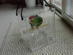 Pet bird carrier transporter Acrylic Bird Carriers for Amazo