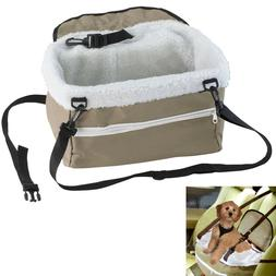 Pet Booster Seat Lookout Car Safety Dog Carrier Leash Belt A