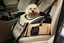Pet Car Seat Carrier Airline Approved for Dog Cat Lookout Pe