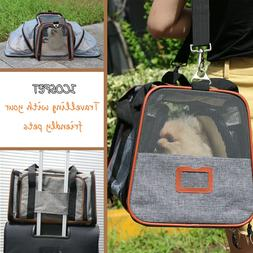 Expandable Pet Carrier Airline Approved For Cats Dogs Under