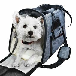 Pet Carrier Airline Approved Side Loading Travel Bag With St