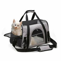 Pet Carrier Bag Soft Sided Travel Crate Puppy&Cat Comfort To