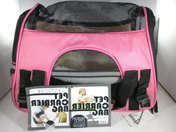 Oxgord Pet Carrier Bag Soft Travel Tote  - Pink  Up to 10 lb