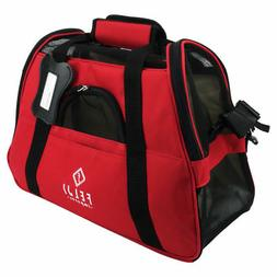 Pet Carrier Cat Dog Airline Approved Fleece Bag Small Red Bl