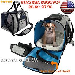 Pet Carrier for Small Cat Dog Puppy Travel Bag Fleece Bed Ai
