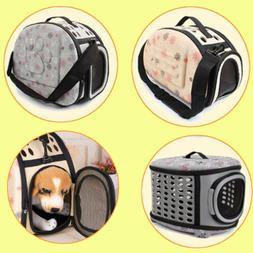 Pet Carrier Hard Sided Cat Dog Comfort Travel Tote Bag Trave
