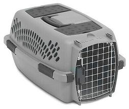 PETMATE Pet Carrier, Light Gray, For 10-Lbs. 21083