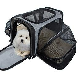 Pet Carrier for Dogs & Cats - Airline Approved Expandable wa