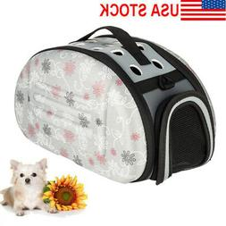 Pet Carrier Soft Sided Cat Dog Comfort Tote Bag Travel Appro