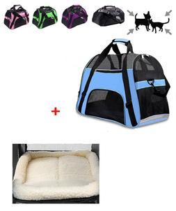 Pet Carrier Soft Sided Cat Dog Comfort Travel Tote Bag  Secu